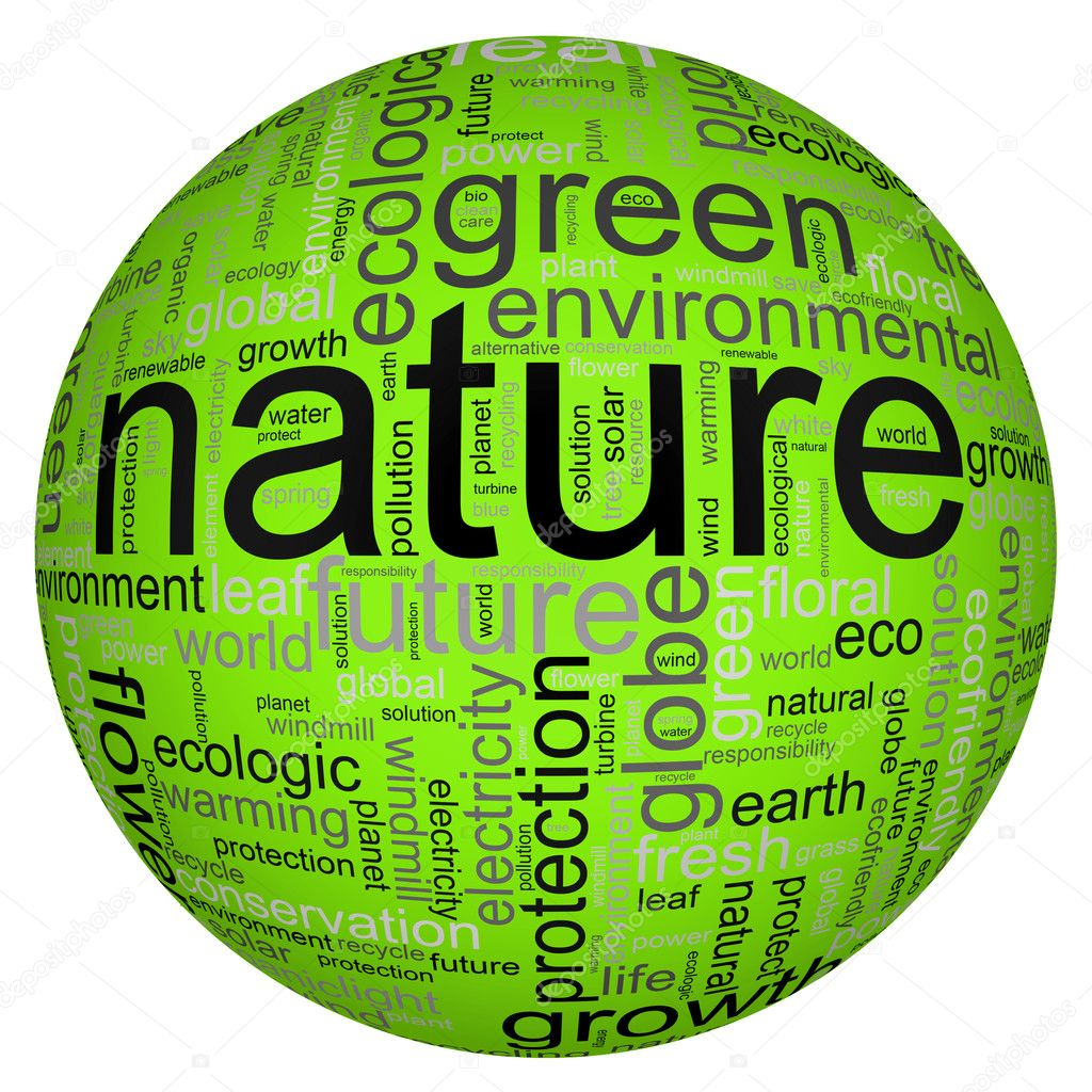 Nature illustration with many different terms like nature or world  Stock Photo #2729876