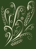 Vector background with a decorative spri — Stock Vector