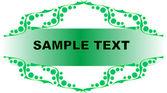Green frame for an inscription — Stock Vector