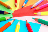 Colorful pencils isolated — Stock Photo