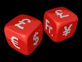 Pound dices — Stock Photo