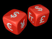 Dollar dices — Stock Photo