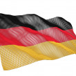 Germany nanotechnological flag — Stock Photo
