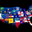 States of the US - Stock Photo