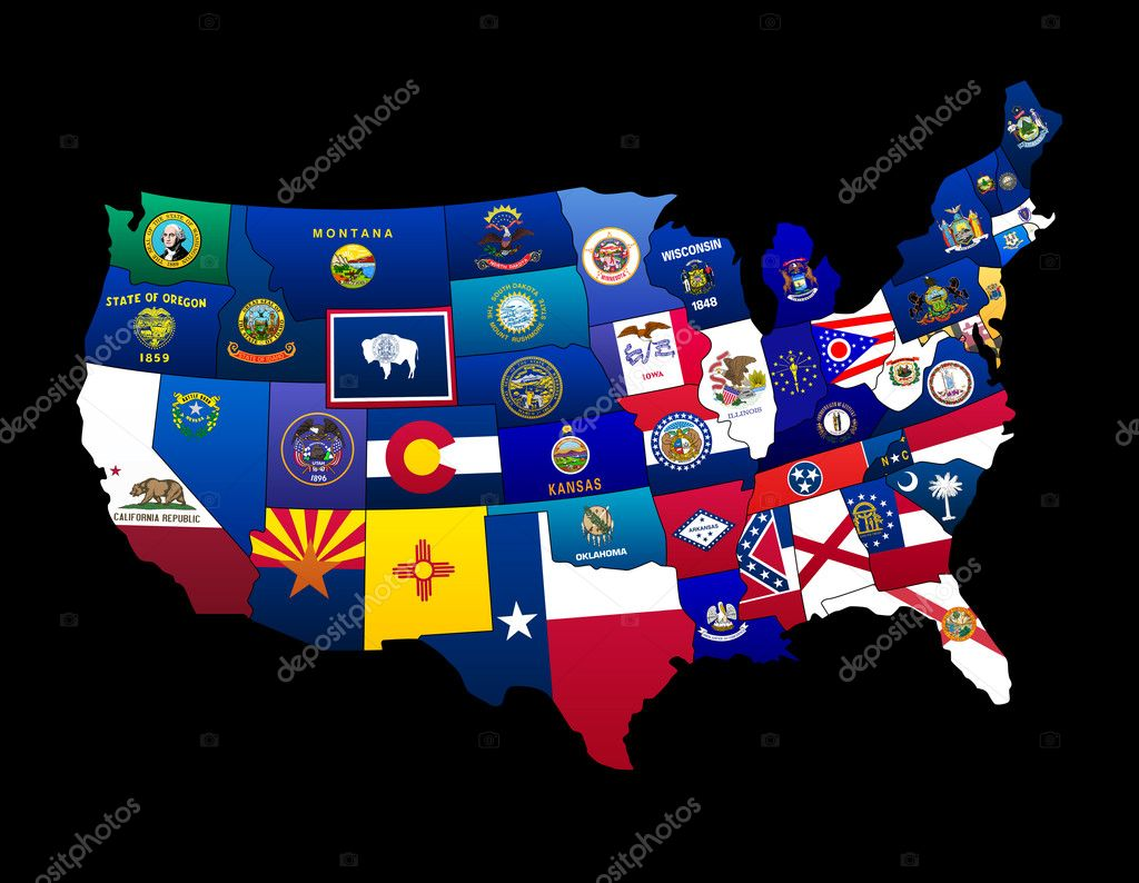 States Flags of the US — Stock Photo #3040386