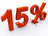 15 percent discount — Stock Photo
