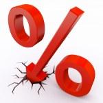 Discount percent — Stock Photo