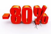 80 percent discount — Stock Photo