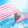 Stock Photo: USribbon flag
