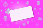 Pink abstract floral invitation background — Stock Photo