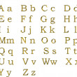 Royalty-Free Stock Photo: Golden alphabet