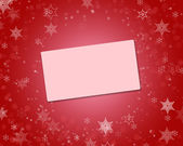 Christmas background with invitation car — Stock Photo