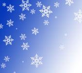 Blue snowflake background — Stock Photo