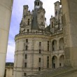 Chambord Castle Loire Valley detail view - Stock Photo