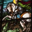 Royalty-Free Stock Photo: Stain glass depicting saint george