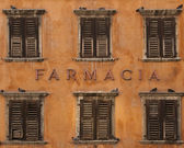 Pharmacy inscription on house — Stock Photo