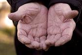 Elderly persons hands — Stock Photo
