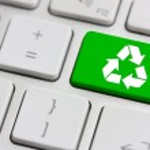 Recycle on keyboard — Stock Photo