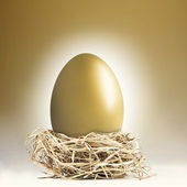 Giant golden nest egg — Stock Photo