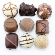 Square of choclates — Stock Photo