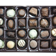 Chocolate truffles box — Stock Photo