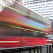 Abstract red london bus - Stock Photo