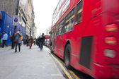 Geschäftigen oxford street — Stockfoto