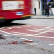 Bus lane in london - Stock Photo