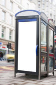 Phonebox advertising space — Stock Photo