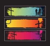 Website-banner für moderne christen legen — Stockvektor