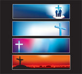 Website banner set for modern christian — Stockvektor