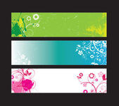 Floral web banner set — Stock Vector
