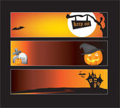 Halloween web banners — Stock Vector