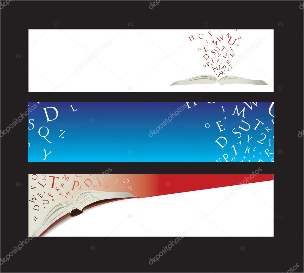 Website banners with space left for message  Stock Vector #2915977
