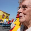 Stock Photo: Senior old lady at seaside