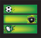 Football and rugby sports banners — Vettoriale Stock