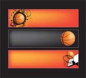 Basketball website banners — Stock Vector
