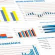 Sales performance and business graphs — Stock Photo