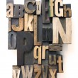 Stock Photo: Letterpress alphabet