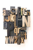 Letterpress alphabet — Stockfoto