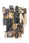 Letterpress alphabet — Stock Photo