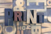 The word print — Stock Photo