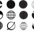 iconos de globo — Vector de stock  #3162094