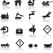 图库矢量图片: Construction and diy icon set