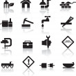 construction et jeu d'icônes bricolage — Vecteur