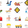 Construction and diy icon set — Imagen vectorial