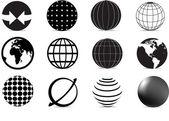 Globe icons — Stock Vector