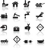 Bau und diy-icon-set — Stockvektor