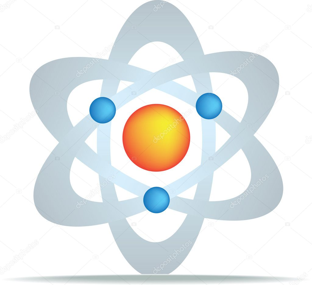 Science symbol for discovery and planets gravity and oull — Stock Vector #3162014