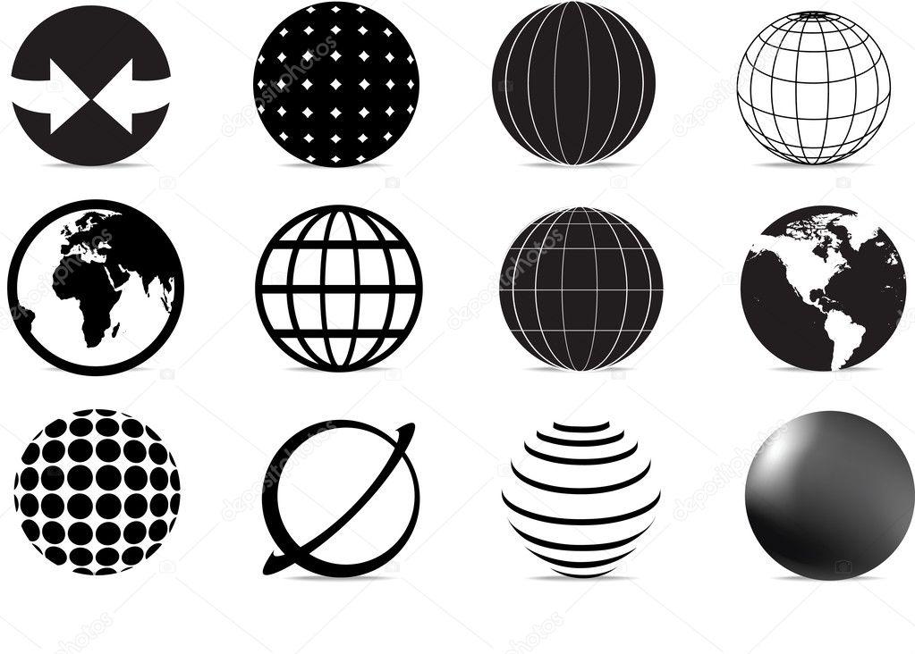 地球图标 — 图库矢量图像08
